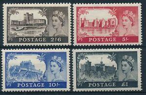 GB 1955 SG 536-9 Castles MM