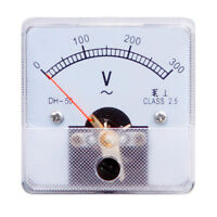 1PC DH-50 Rectangle Plastic Analog Voltmeter Voltage Meter DC 0-300V Class 2.5