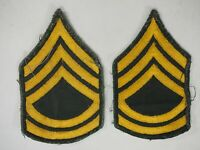 Vintage Pair of Sergeant 1st Class Insignia Shoulder Chevron Stripes WWII-Korea