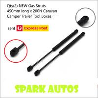 Qty(2) NEW Gas Struts 450mm long x 200N Caravan Camper Trailer Tool Boxes