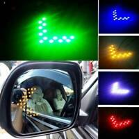 1Pair 12V 14SMD Arrow Panel Car Rearview Mirror LED Sequential Turn Signal Light