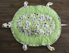 Baby Animal Mat, Tummy Time Play Mat for Infants Turtle w/ 2 Play Matching Balls