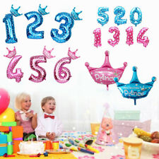 """32"""" Number Crown Foil Balloons Helium Balloons Wedding Birthday Party Decor"""