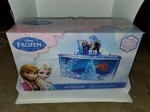 0.7 Gallon Themed Betta Tank Perfect for Betta Fish for Fans of Frozen Decor Blu