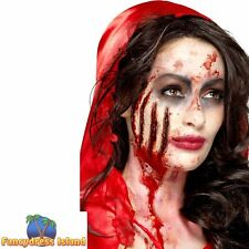 Gory Wounds Prosthetic Halloween Scars Latex Horror Fancy Dress Make Up