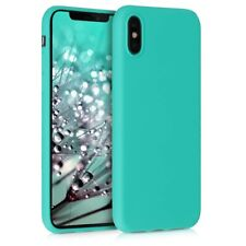 cdc8e46a6c9 Funda Apple iPhone X / XS carcasa lisa verde menta mint mate tpu gel  silicona