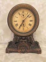 Vintage Seth Thomas Art Nouveau Shelf Clock Runs! w/ Alarm