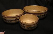7312:3xwunderschöne Keramikschalen,Fischdesign, 70er Jahre-20,5cm15,5cm10,5cm Ø.