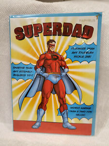 NIP Papyrus Fathers Day Dad Father's SUPERDAD Greeting Card ($4.95 Retail)
