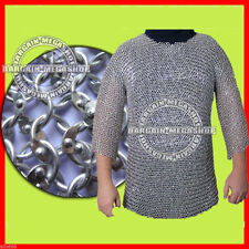 ALUMINIUM ROUND RIVETED CHAINMAIL SHIRT CHAIN MAIL ARMOUR COSTUME XXL SIZE