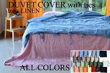 LINEN DUVET COVER ties quilt linen bedding linen duvet cover queen duvet cover