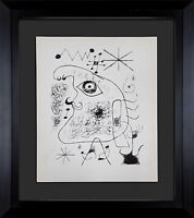 Joan MIRO Lithograph LIMITED Edition w/Cat. Ref: c13 +Custom Archival FRAMING