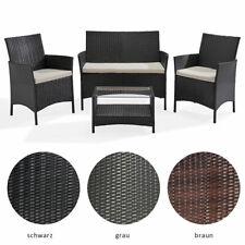 SVITA BROOKLYN Polyrattan Sitzgruppe Lounge Garnitur Gartenmöbel Set Farbwahl