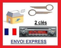 Clé extraction démontage façade autoradio audi concert 2 trous a3 a4