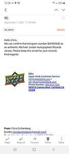 michael jordan Autographed/signed  Wizards Jersey LE /275 Uda & Beckett Coa ...