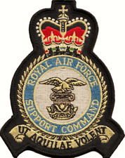 RAF Support Command Royal Air Force MOD Crest Embroidered Patch