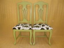 2 CHAISES CHIPPENDALE patinées+velours peau animal★BROCANTIC★ANTIQUITÉS/BROCANTE