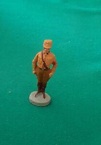 GERMAN SOLDIER STANDING - ELASTOLIN COMPOSITION - ORIGINAL PREWAR