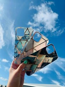 Blue White Gold IphoneX/XS luxury phone case