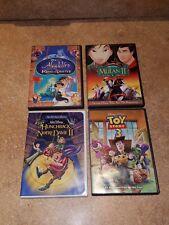 DISNEY DVD LOT - ALADDIN KINGOF THIEVES TOY STORY 3, MULAN... (4 KIDS DVD MOVIES