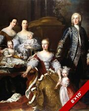 PRINCESS OF WALES AUGUSTA SAXE-GOTHA FAMILY PAINTING HISTORY ART CANVAS PRINT