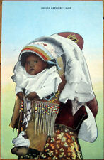 1940 Postcard: Native American / Indian Baby in Papoose