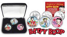 BETTY BOOP LICENSED 3 -COIN USA STATE QUARTER SET *Rare* NEW IN VELVET GIFT BOX