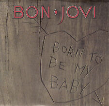 """BON JOVI Born To Be My Baby & Love For Sale PICTURE SLEEVE 7"""" record 45 rpm NEW"""