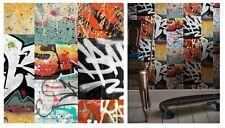 Arthouse Graffiti Red Funky Bold Banksy Black White Feature Wallpaper 668301