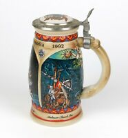 1989 Budweiser Anheuser-Busch PINTA Ceramic Beer Stein Discover America Series