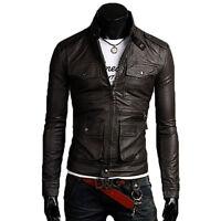 Giacca Giubbotto in Pelle Uomo Men Leather Jacket Veste Blouson Homme Cuir N13