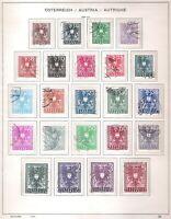 ÖSTERREICH (4910) MINR 697-19  FREIMARKEN WAPPEN GESTEMPELT 1945 AUS NACHLASS