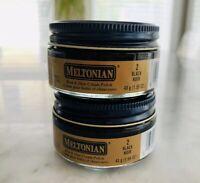 Meltonian Black #2 Polish Boot Shoe Cream Leather Care *2X Jars* 1.55 oz NEW