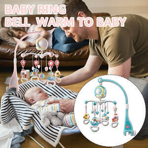 Baby Musical Crib Bed Bell Cot Mobile Moon Star Dream Light Nusery Lullaby Toy