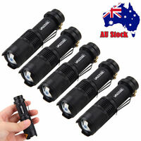 Super Bright 5xQ5 LED Zoomable Focus Flashlight Torch 2000LM Lamp Light AA/14500