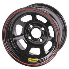 Bassett 14 x 7 x 3.625 Spun Black 4 on 4-1/4 Pinto, Mustang Wheel