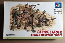 ITALERI 353 - GEBIRGJAGER GERMAN MOUNTAIN TROOPS - 1/35 PLASTIC KIT NUOVO