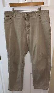 Kuhl Men 38 x 30 Pants Striped Cotton Khaki 5 Pocket Work Casual Beige Tan