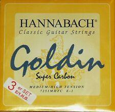 Hannabach Goldin trebles, Diskant, Set 725 MHT Saiten strings cuerdas
