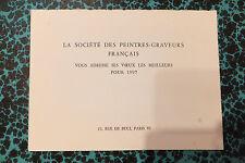 Carte de voeux Société des Peintres Graveurs Français Aquatinte de Chot-Plassot
