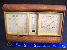 ANGELUS CLOCK  & THERMOMETER WEATHER STATION COMBINATION TRAVEL PIECE UNIQUE