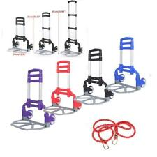 Cart Folding Dolly Push Truck Hand Trolley Luggage Aluminium Bungee Cord New