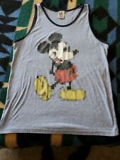Junk Food Disney Mickey Mouse Blurry Graphic Tank Top Adult Sz. Large