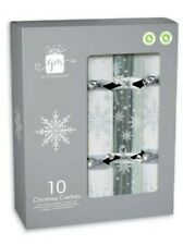 Giftmaker Premium Christmas Crackers Family 10 Pack Silver Gold Red White Xmas