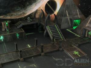 CC3D - Runic/ Necron Pathways  - Wargames Miniatures Scenery 40k 28mm 15mm