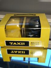 Two s Company Taxi Cab Ceramic Salt And Pepper Shakers New In Box