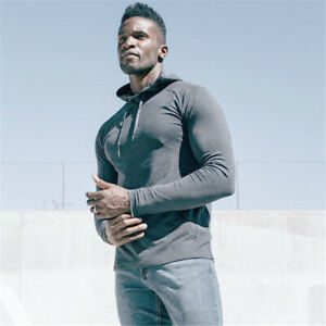 Mens Casual Sports Hoodie Workout Outdoor Thin Sweatshirt 100% Cotton Coat