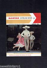 #HH1. QANTAS INTERLINE NEWS BROCHURE - JANUARY 1966