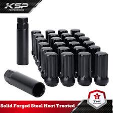 24 Black Spline Lug Nuts 14X1.5 Chevy Silverado Hummer 6X5.5 6X139.7mm