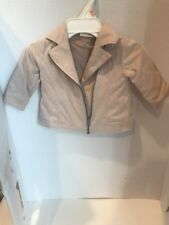 FIRST IMPRESSIONS BABY ZIP UP FAUX SUEDE JACKET SIZE 3to 6 Months (12-17) Pounds